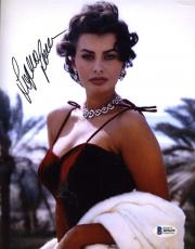 Sophia Loren Bas Beckett Coa Hand Signed 8x10 Photo Authenticated Autograph 1