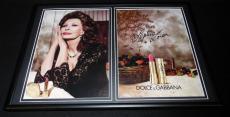 Sophia Loren Facsimile Signed Framed 2015 Dolce & Gabbana Advertising Display