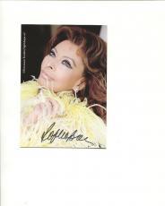 SOPHIA LOREN HAND SIGNED 4x6 COLOR PHOTO+COA           GORGEOUS ACTRESS