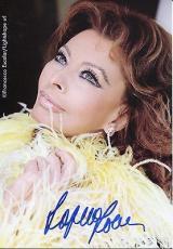 SOPHIA LOREN HAND SIGNED 4x6 COLOR PHOTO+COA     STUNNING BEAUTIFUL ACTRESS
