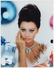 SOPHIA LOREN HAND SIGNED 8x10 COLOR PHOTO      GLAMOUR POSE+DIAMONDS       JSA