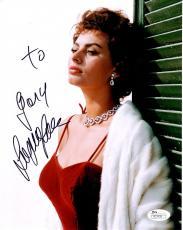 SOPHIA LOREN HAND SIGNED 8x10 COLOR PHOTO     GORGEOUS POSE     TO GARY      JSA