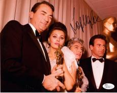 SOPHIA LOREN HAND SIGNED 8x10 COLOR PHOTO      GREGORY PECK+JOAN CRAWFORD    JSA