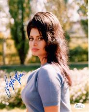 SOPHIA LOREN HAND SIGNED 8x10 COLOR PHOTO        SULTRY+SEXY POSE       JSA