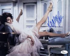 SOPHIA LOREN HAND SIGNED 8x10 COLOR PHOTO+COA         GORGEOUS+SEXY LEGS     JSA