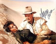 SOPHIA LOREN HAND SIGNED 8x10 COLOR PHOTO+COA        GREAT POSE WITH JOHN WAYNE