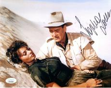 SOPHIA LOREN HAND SIGNED 8x10 PHOTO        GREAT POSE WITH JOHN WAYNE       JSA