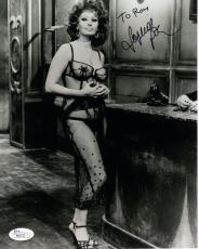 SOPHIA LOREN HAND SIGNED 8x10 PHOTO        SEXY LINGERIE POSE     TO RON     JSA