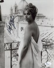 SOPHIA LOREN HAND SIGNED 8x10 PHOTO       SEXY POSE WRAPPED IN TOWEL         JSA