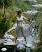 SOPHIA LOREN HAND SIGNED 8x10 PHOTO        STUNNING POSE       TO GEORGE     JSA