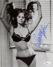 SOPHIA LOREN HAND SIGNED 8x10 PHOTO      VERY SEXY POSE     GORGEOUS+SEXY    JSA