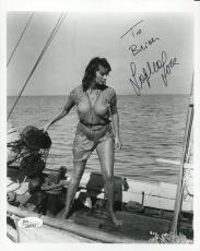 SOPHIA LOREN HAND SIGNED 8x10 PHOTO     WET+SEXY POSE     TO BRIAN        JSA