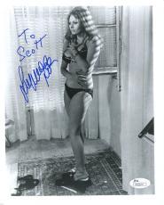 SOPHIA LOREN HAND SIGNED 8x10 PHOTO+COA     SEXY POSE IN BRA+PANTIES    TO SCOTT