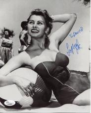 SOPHIA LOREN HAND SIGNED 8x10 PHOTO+COA      YOUNG+SEXY POSE    TO DAVID     JSA