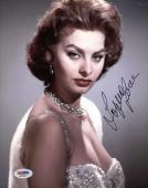 SOPHIA LOREN Hand Signed PSA DNA CERT 8x10 Photo Autographed Authentic