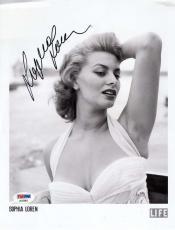 SOPHIA LOREN Hand Signed PSA DNA COA 8x10 Photo Autographed Authentic