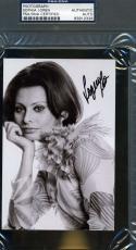 Sophia Loren Hand Signed Psa/dna Cert Photo Authentic Autograph