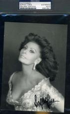 Sophia Loren Hand Signed Psa/dna Photo 5x7 Authenticated Autograph