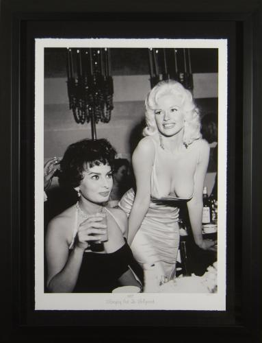 Sophia Loren Jayne Mansfield - Hanging Out Fine Art Photo Fr