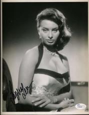 Sophia Loren Jsa Coa Cert Hand Signed 8x10 Photograph Authenticated Autograph