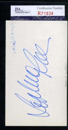 Sophia Loren Jsa Coa Hand Signed 3x5 Index Card Authenticated Autograph