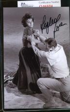 Sophia Loren Jsa Coa Hand Signed 4x6 Photo Authenticated Autograph 2