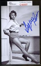 Sophia Loren Jsa Coa Hand Signed 4x6 Photo Authenticated Autograph 3