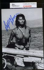 Sophia Loren Jsa Coa Hand Signed 4x6 Photo Authenticated Autograph 7