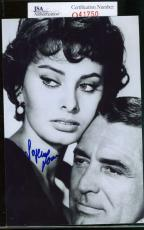 Sophia Loren Jsa Coa Hand Signed 4x6 Photo Authenticated Autograph 9