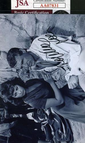 SOPHIA LOREN JSA Coa Hand Signed Photo Autograph WITH CARY GRANT