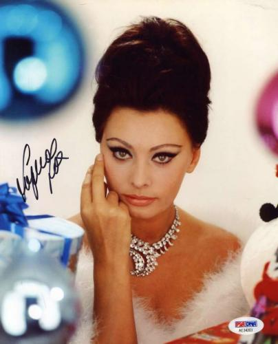 SOPHIA LOREN PSA DNA Cert Hand Signed Authentic 8x10 Photo Autograph