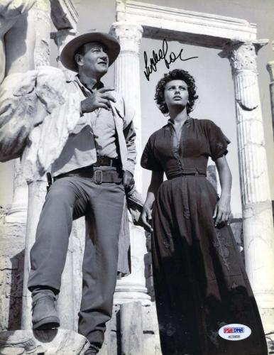 SOPHIA LOREN PSA DNA Coa Autograph 9x11 Photo Hand Signed