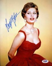 SOPHIA LOREN PSA/DNA CERTED HAND SIGNED 8x10 PHOTO AUTHENTICATED AUTOGRAPH