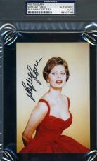 Sophia Loren Psa/dna Coa Hand Signed 4x6 Photo Authentic Autograph