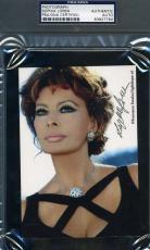 Sophia Loren Psa/dna Coa Hand Signed 4x6 Photo Authenticated Autograph