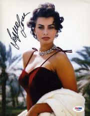 Sophia Loren Psa/dna Coa Hand Signed 8x10 Photo Authentic Autograph
