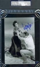 Sophia Loren Psa/dna Coa Signed 4x6 Photo John Wayne Authentic Autograph
