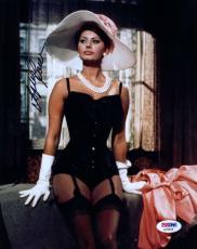 Sophia Loren Psa/dna Hand Signed 8x10 Photo Authentic Autograph