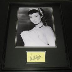Sophia Loren Cleopatra Signed Framed 16x20 Photo Display JSA