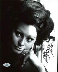 Sophia Loren Sexy Signed 8X10 Photo Autographed BAS #B03988