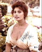 Sophia Loren Sexy Signed 8X10 Photo Autographed BAS #B51017