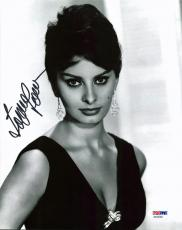 Sophia Loren Sexy Signed 8X10 Photo Autographed PSA/DNA #AA20382