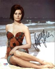 Sophia Loren Sexy Signed 8X10 Photo Autographed PSA/DNA #AA42564