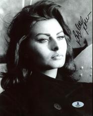 Sophia Loren Sexy Signed 8X10 Photo BAS #B03987