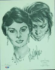 Sophia Loren Signed 1962 Volpe Print (PSA/DNA)