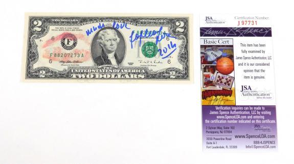 Sophia Loren Signed 2 Dollar Bill JSA Auto DA025471