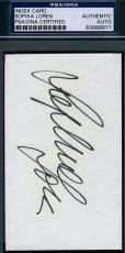 Sophia Loren Signed 3x5 Index Card Psa/dna Authentic Autograph