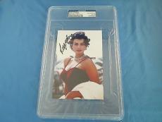 Sophia Loren Signed 4x6 Photo PSA DNA COA Slabbed Encapsulated Autograph Sexy