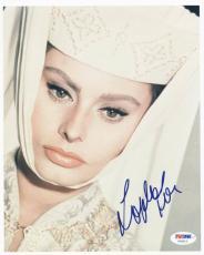 Sophia Loren Signed 8x10 Photo Autographed Psa/dna #u65812
