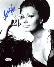 Sophia Loren Signed 8X10 Photo Autographed PSA/DNA #Z92184